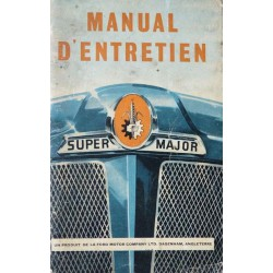 Fordson Super Major, notice d'entretien