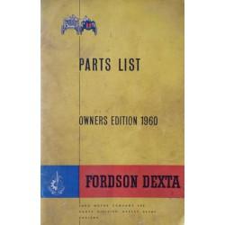 Fordson Dexta, catalogue de pièces