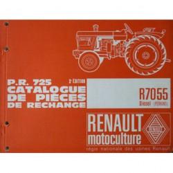 Renault Super 7 et 7D (R7055), catalogue de pièces