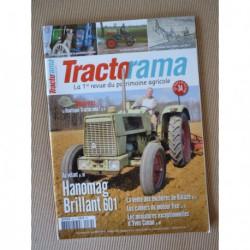 Tractorama n°34, Hanomag Brillant 601, Kühner et Berger Diesel Zwerg DL1, labour, Niel, Millot, Perdereau