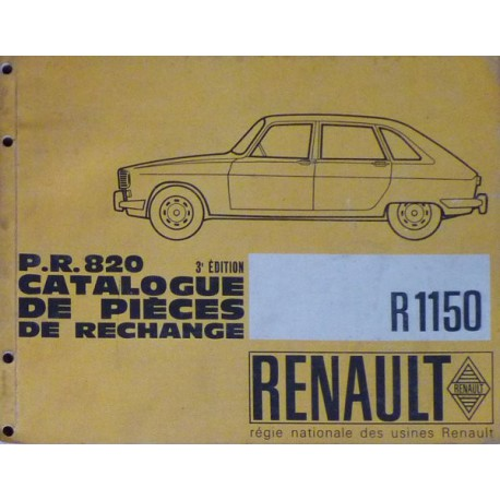 renault 16 r1150 catalogue de pi ces. Black Bedroom Furniture Sets. Home Design Ideas