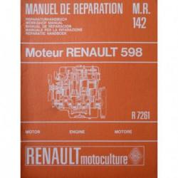 Renault 88 R7261 moteur 598, manuel de réparation