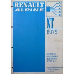 Alpine A610 Turbo D503, schémas électriques