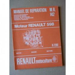 Renault 88 R7261 moteur 598, manuel de réparation original