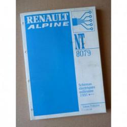 Alpine A610 Turbo D503, schémas électriques original