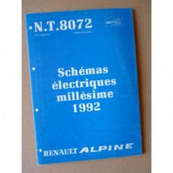 Alpine A610 Turbo D503 1992, schémas électriques original