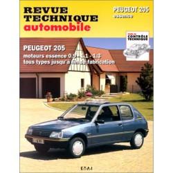 RTA Peugeot 205 essence 1.1, 1.2, 1.3, 1.4
