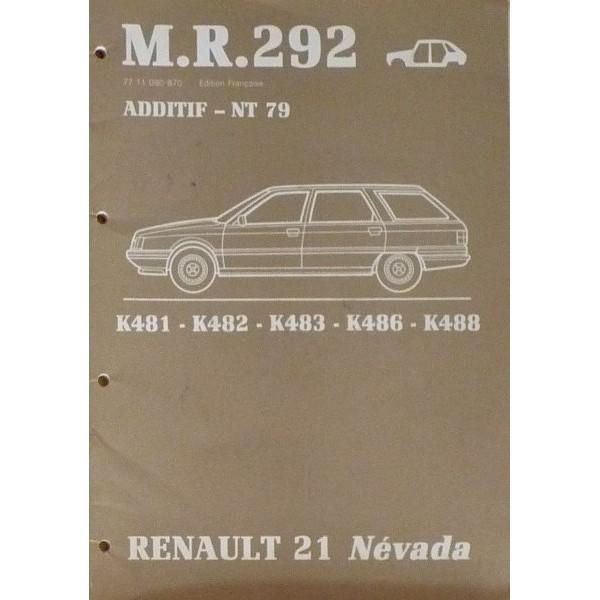 renault 21 break manuel de r paration carrosserie original. Black Bedroom Furniture Sets. Home Design Ideas