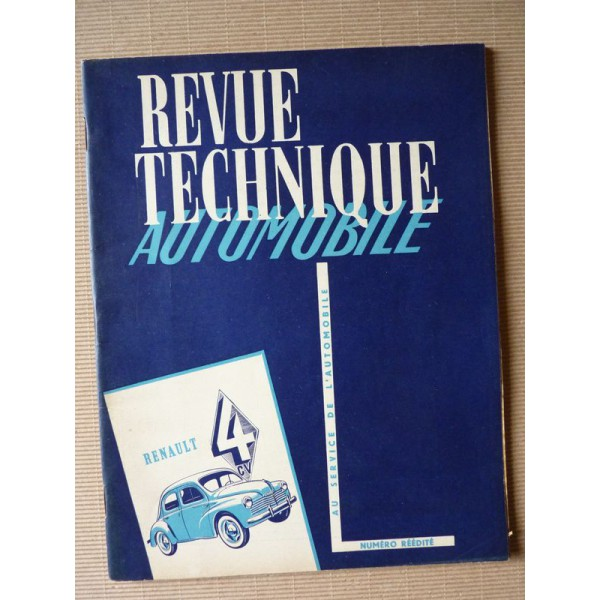revue technique automobile renault 4cv r1060  r1062  r2070