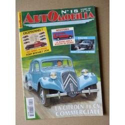 Automobilia n°18, Peugeot 402, Citroën Traction 11cv commerciale, Talbot en sport