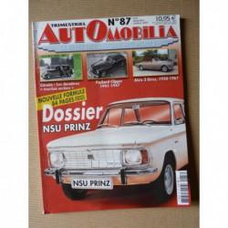 Automobilia n°87, NSU Prinz, Rosalie, Talbot, Jaguar FT, Packard Clipper, Alvis 3 Litres