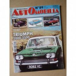 Automobilia n°89, Talbot Tagora, prototypes, Triumph 2000 2500, Lancia Aprilia, CG 548