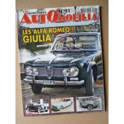 Automobilia n°91, Alfa-Romeo Giulia, Delahaye 182, AMC, Siluro, Cadillac V16
