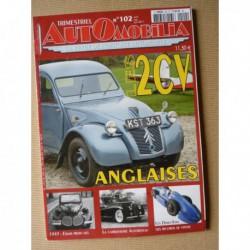 Automobilia n°102, Citroën 2cv UK, Autobineau, Edsel, Cemsa-Caproni, COA AFG