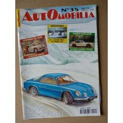 Automobilia n°35, Alpine A110, Morgan Darmont, Plan Pons, Jacques Cooper, Simca Sport
