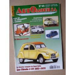 Automobilia n°46, Citroën 2cv 51-75, Armstrong Siddeley, Messerschmitt, Renault Juvaquatre Dauphinoise