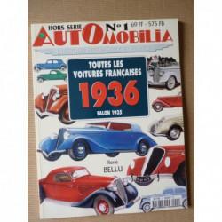 AutOmobilia HS n°1, Toutes les voitures françaises 1936, salon 1935