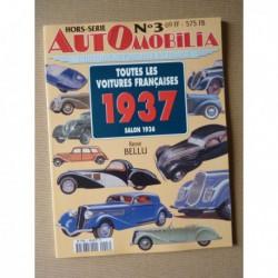 AutOmobilia HS n°3, Toutes les voitures françaises 1937, salon 1936