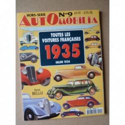 AutOmobilia HS n°9, Toutes les voitures françaises 1935, salon 1934