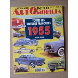AutOmobilia HS n°10, Toutes les voitures françaises 1955, salon 1954