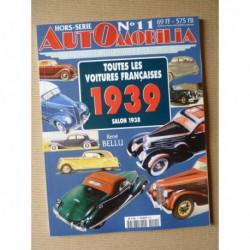 AutOmobilia HS n°11, Toutes les voitures françaises 1939, salon 1938