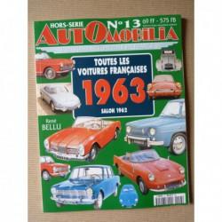 AutOmobilia HS n°13, Toutes les voitures françaises 1963, salon 1962