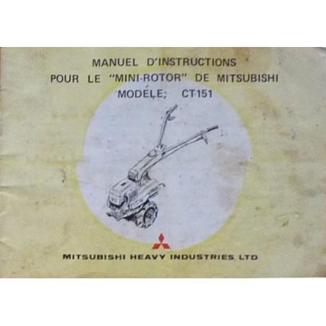Mitsubishi Mini-Rotor CT 151, notice d'entretien