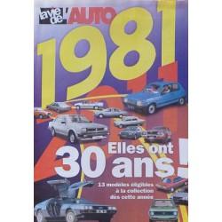 1981, elles ont 30 ans en 2011, supplément La Vie de l'Auto