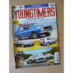 Youngtimers n°14, VW Golf VR6, R12 Gordini, Lotus Esprit S2, Opel Commodore B, Visa Club, Ford Fiesta I, Peugeot 104