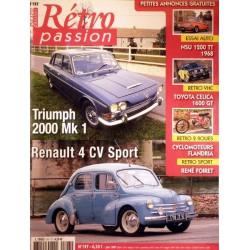 Rétro Passion n°197, Triumph 2000 mk1, Renault 4cv Sport
