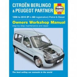Haynes Citroën Berlingo et Peugeot Partner MkI, essence et Diesel (1996-10)