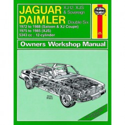 Haynes Jaguar XJ12, Sovereign, XJ-S, Daimler Double-Six (1972-88) et V12