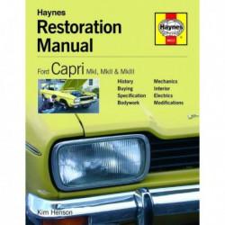 Manuel de restauration Ford Capri MkI, MkII, MkIII
